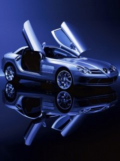 Modern background image for cellphone Sony Ericsson 240*320 cars