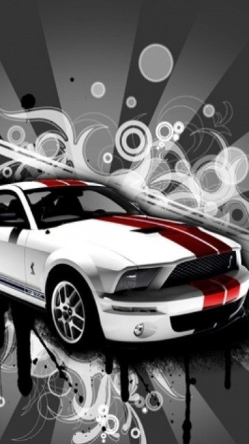 Creative background for mobile phone BlackBerry 360*640 cars