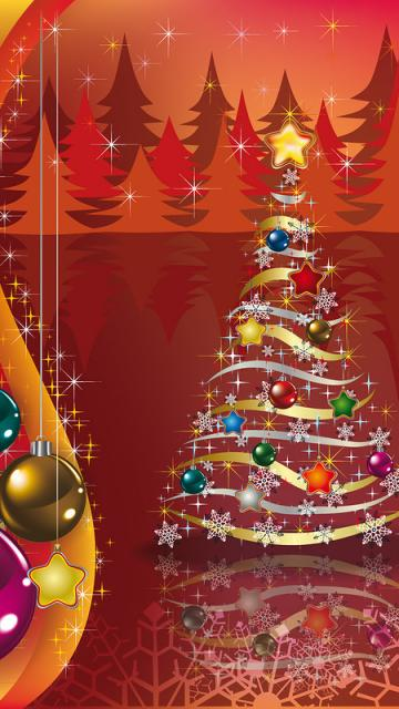Free christmas background image for smartphone Samsung 360x640